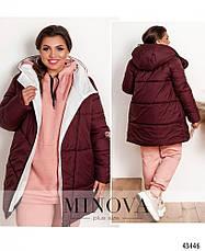 Куртка женская стильная батальная с капюшоном, фото 3