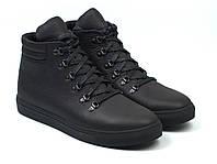 Ботинки мужские зимние черные кожаные на меху обувь на молнии широкая колодка Rosso Avangard Ranger Matte