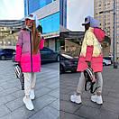 Женский рефлективный двухсторонний пуховик Черный / Розовый, фото 2