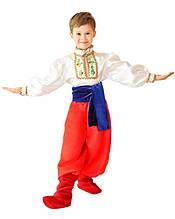 Детский костюм Казачок. Комплект - рубаха, шаровары, пояс (381)