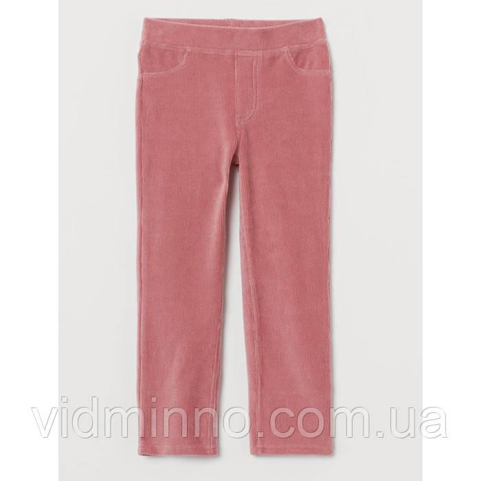 Дитячі вельветові штани трегінси H&M на зріст 140 см (на 9-10 років)
