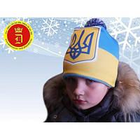 Детская зимняя шапка (флис) на мальчика 50 размер.Теплая шапка детская на мальчика.Шапка зима