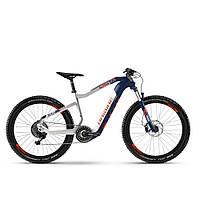 "Электровелосипед HAIBIKE XDURO AllTrail 5.0 Carbon FLYON i630Wh 11 s. NX 27.5"", рама L, сине-бело-оранжевый,"
