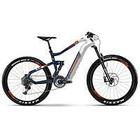 "Электровелосипед HAIBIKE XDURO AllMtn 5.0 Carbon FLYON i630Wh 11 s. NX 27.5"", рама М, бело-сине-оранжевый,"