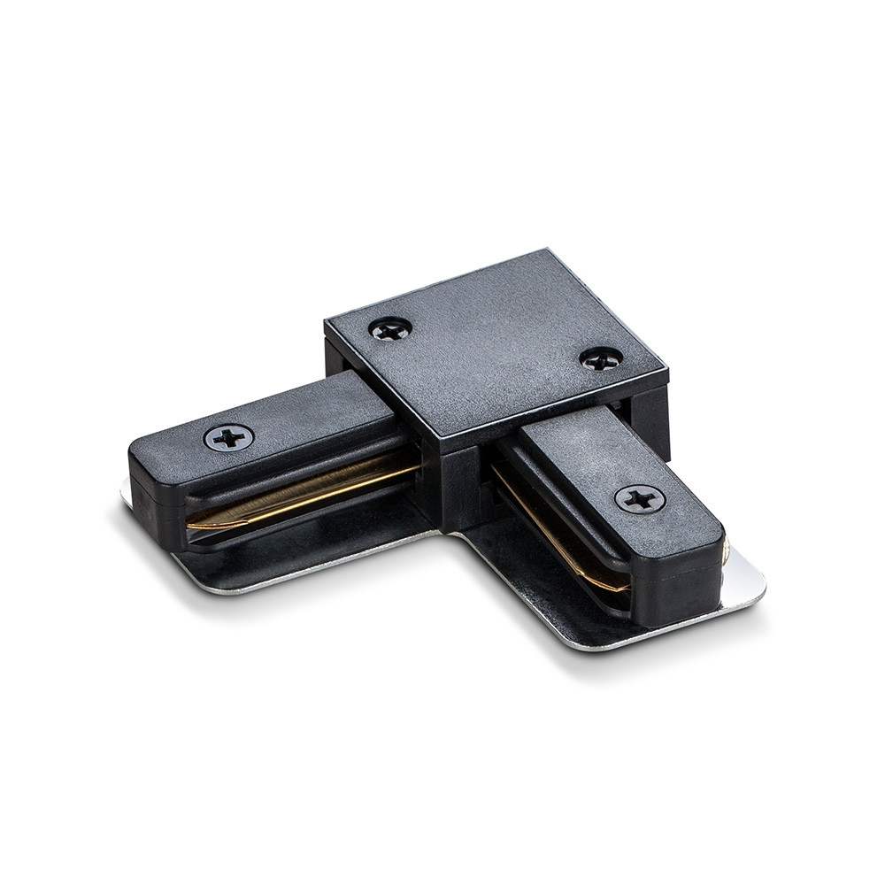 Соединитель для шинопроводов угловой VIDEX черный VL-TRF-CTL-B 25925