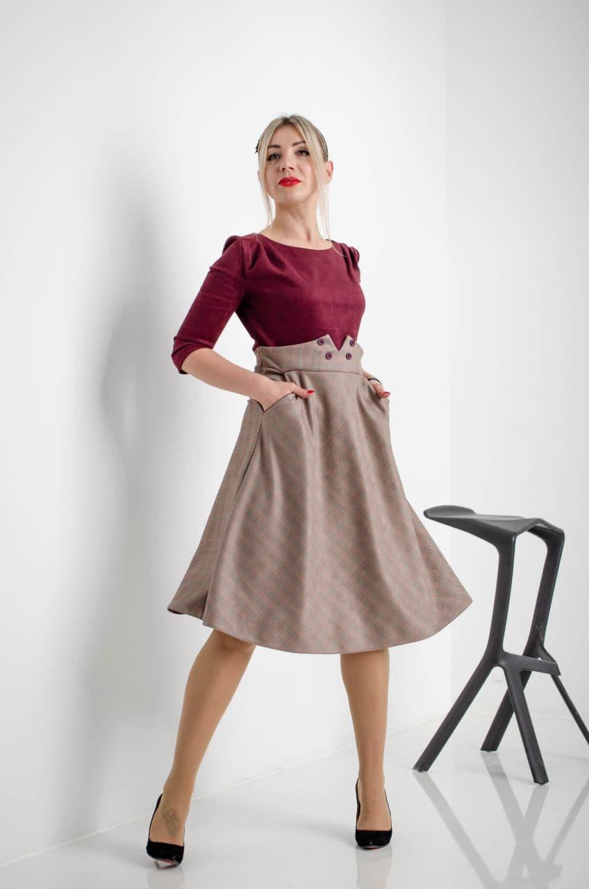 Замшеве сукня бордове