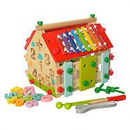 Деревянная игрушка Центр развивающий MD 2087, фото 4