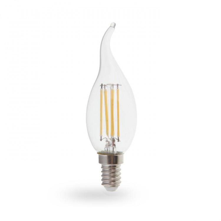 Светодиодная лампа Feron LB-160 7W E14 4000K филамент свеча на ветру