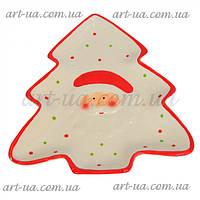 """Сервировочное новогоднее блюдо """"Елка"""" белое, фигурное, новогоднее блюдо, сервировочное блюдо"""