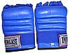 Рукавички бойові Full Contact з еластичною манжетою на липучці Шкіра ELAST VL-01045-B(L) (р-р L, синій), фото 3