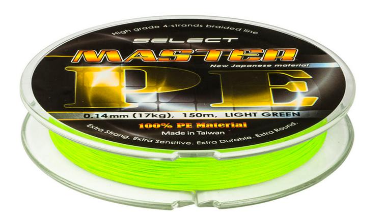 Шнур Select Master PE 150m 0.16 mm 19kg, фото 2