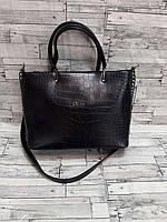 Женская стильная сумка рептилия