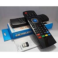 Пульт Air Mouse MX3 с русской клавиатурой и голосовым управлением, черный, пульт на голосовом управлении,