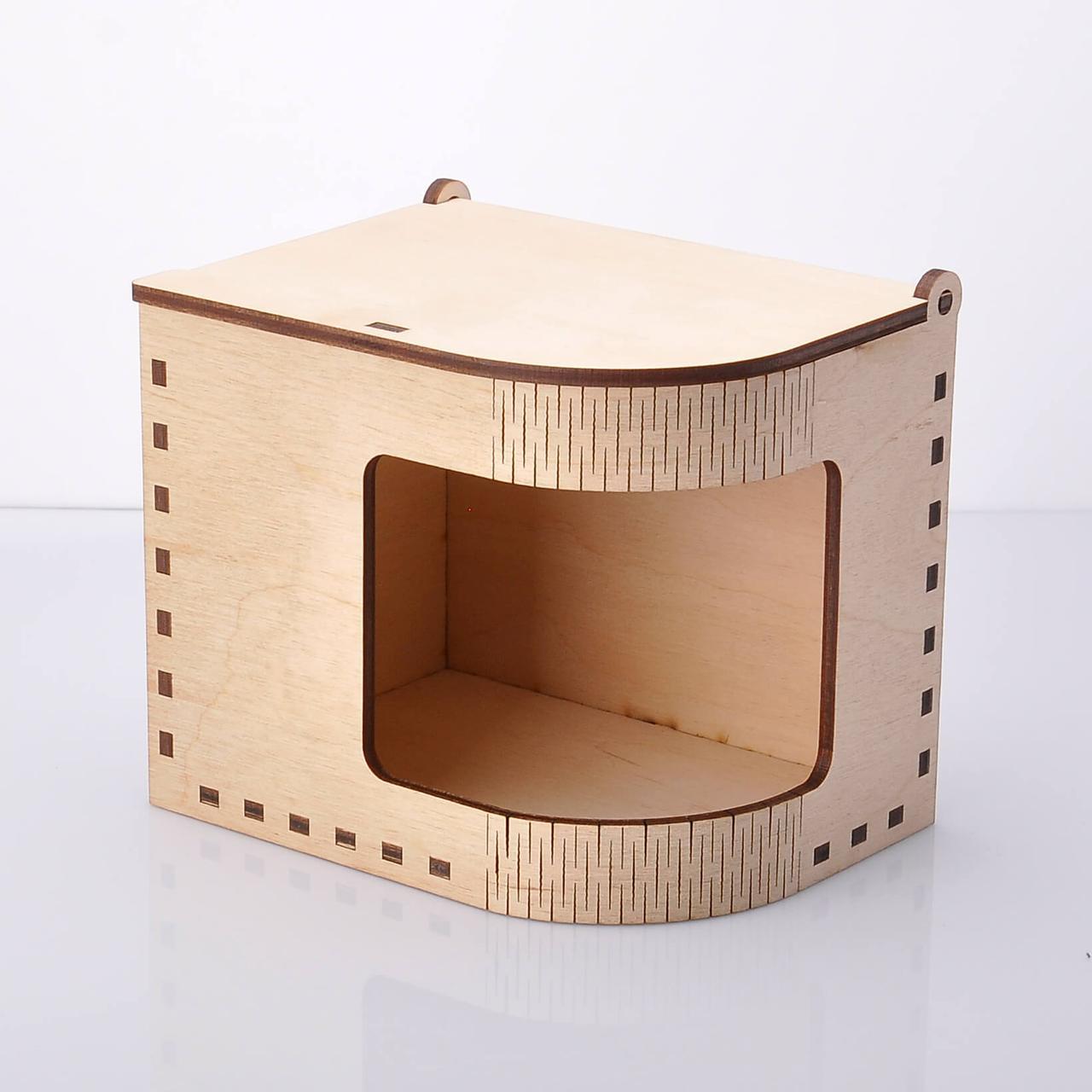 Подарочная коробочка для чашки с окном из фанеры