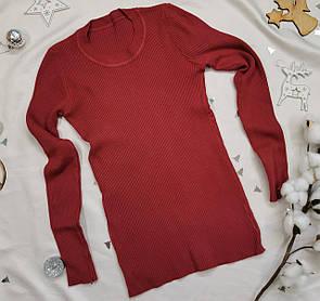 Жіночий светр, пуловер бордо