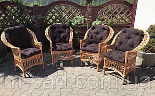 Набор плетеной мебели с подушками, фото 2