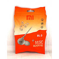 Вакуумные проводные наушники Xiaomi BL-3 в пакете, белый, mini jack 3.5 мм, наушники Xiaomi BL-3, аксессуары