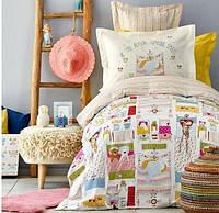 Подростковое постельное белье Karaca Home. Ранфорс Gita sari 2019-2-1,5-спальный подростковый