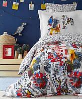 Подростковое постельное белье Karaca Home. Ранфорс Beris kirmizi 2019-2-1,5-спальный подростковый