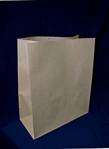 Пакет бумажный с дном 32х15х38 см., плотностью 80 г/м2, 250 шт/ящ без ручек, бурый крафт, импорт
