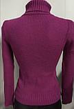 Стильные красивые полушерстяные женские свитера, гольфы, водолазки Cavalli, фото 7