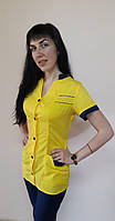 Женский медицинский костюм Оксана хлопок короткий рукав, фото 1