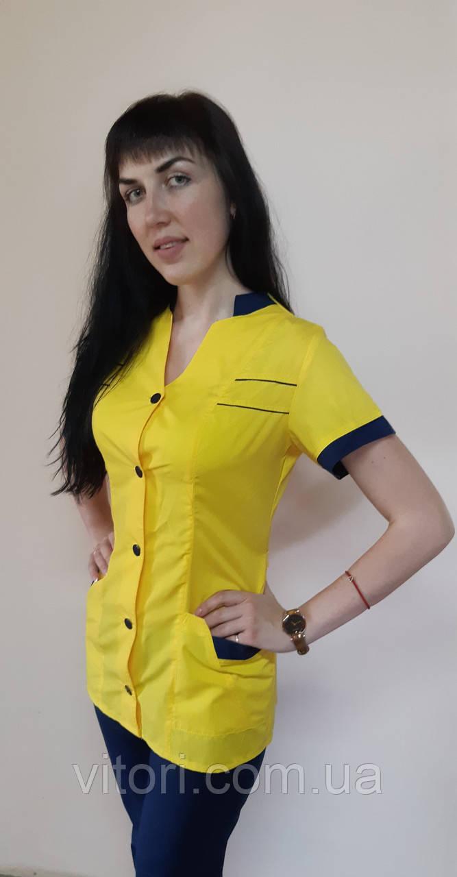 Женский медицинский костюм Оксана хлопок короткий рукав
