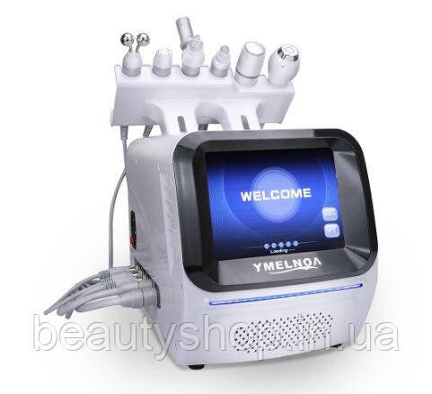Аппарат 6 в 1, косметологический комбайн, гидропилинг, рф лифтинг, микротоки, криотерапия, окси спрей
