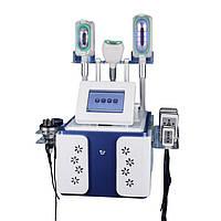 Аппарат для криолиполиза  5 в 1, РФ Лифтинг, Кавитация, Лазерный липолиз, 3 ручки Крио для похудения и коррекц, фото 1
