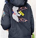 Kуртка женская черная зимняя на утеплителе с мехом Xueguihuikai 01149, фото 4