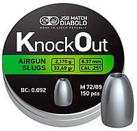 В продаже Пули пневм JSB Diablo KnockOut Slugs .251 6.37mm