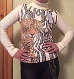 Стильные красивые полушерстяные женские свитера, гольфы, водолазки Cavalli, фото 3