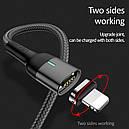 Магнитный кабель синхронизации Usams MicroUSB 1m 2.1A Серый (US-SJ328-GR), фото 6