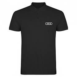 Поло Ауди (Audi) мужское, тенниска Ауди, мужская футболка Ауди, Турецкий хлопок, копия