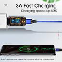 Магнитный кабель для быстрой зарядки и передачи данных Greenport M12A3  3.0A для USB Type-C Blue (M12A35), фото 4