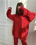 Костюм женский спортивный тёплый красный, чёрный, мокко, олива, шоколад, лиловый 42-44,44-46, фото 2