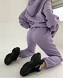 Костюм женский спортивный тёплый красный, чёрный, мокко, олива, шоколад, лиловый 42-44,44-46, фото 3