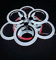 Светодиодная люстра 3+3  хром кольца с диммерным пультом 90 вт, фото 1