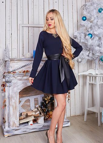 Молодежное платье с длинным рукавом, фото 2