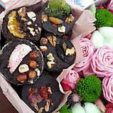 Сердечко с домашним шоколадом и цветами, фото 3