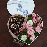 Сердечко с домашним шоколадом и цветами, фото 2
