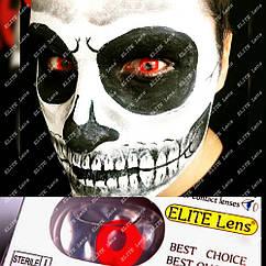 Червоні контактні лінзи ELITE Lens «Ред» 14.5 мм