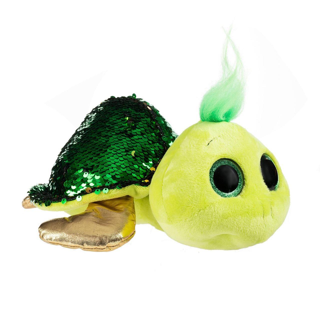 Мягкая игрушка Глазастик Черепаха с пайетками 25 см Fancy GCHE0P