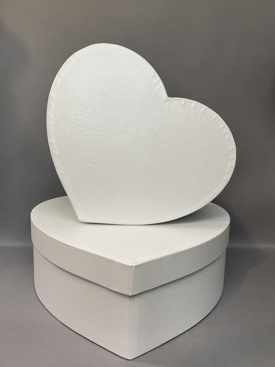 Сердце БОЛЬШОЕ с кр.(Белый  перламутр)