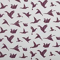 Хлопковая ткань Оригами бордо