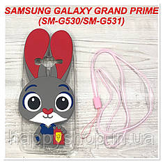 Чехол Зверополис для Samsung Galaxy Grand Prime SM-G530, SM-G531 (Красный)
