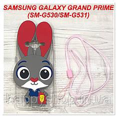 Чохол Зверополис для Samsung Galaxy Grand Prime SM-G530, SM-G531 (Червоний)