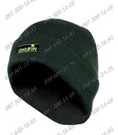 Вязанная акриловая Шапка Norfin Classic Одежда для рыбалки Зимняя шапка для рыбалки Мужские шапки, фото 2