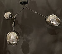 Люстра-трансформер в стиле лофт молекула на 3 лампы, фото 1