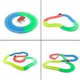 Led Magic tracks 220 деталей гибкая гоночная трасса гоночный трек для малышей дорога игрушка для мальчиков, фото 5